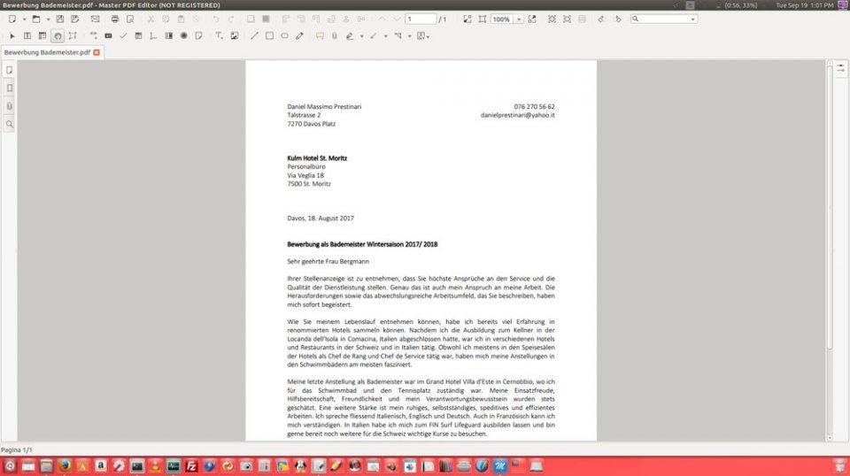 Per file pdf scrivere su programma