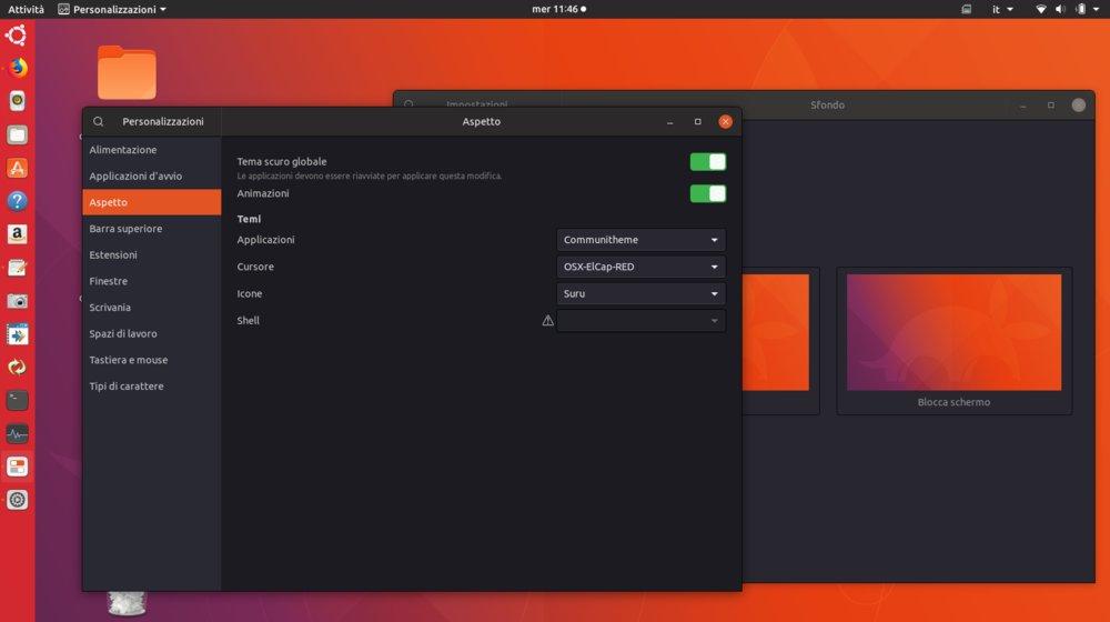 temi ubuntu