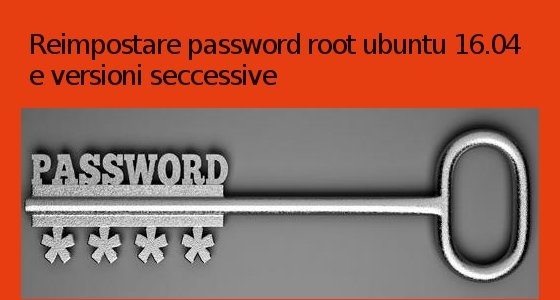 password-root-dimenticata