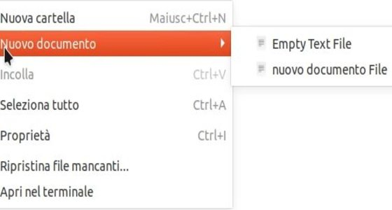 Ubuntu-creare-nuovo-documento-file-manager