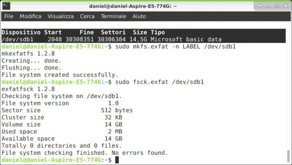 Come montare e utilizzare un exFAT Drive su Ubuntu Linux