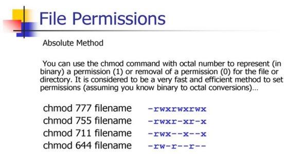 configurazione-directory-unix-linux