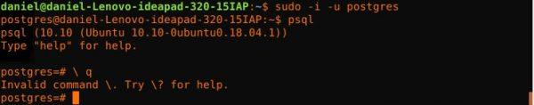 postgresql-su-ubuntu